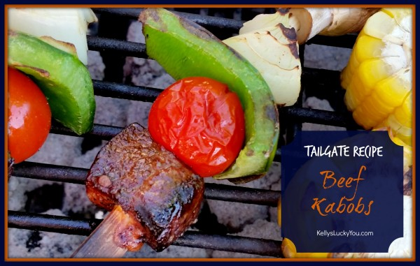 Tailgate Recipe Beef Kabob Kingsford Charcoal Walmart Beef on Grill