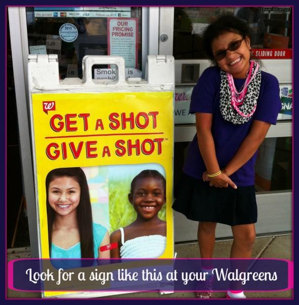 Walgreens #GetaShot Sign