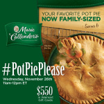 #PotPiePlease-Twitter-Party-11-26-11amEST