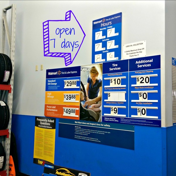 Walmart-Auto-Center-Open-7-Days-#DropShopandOil