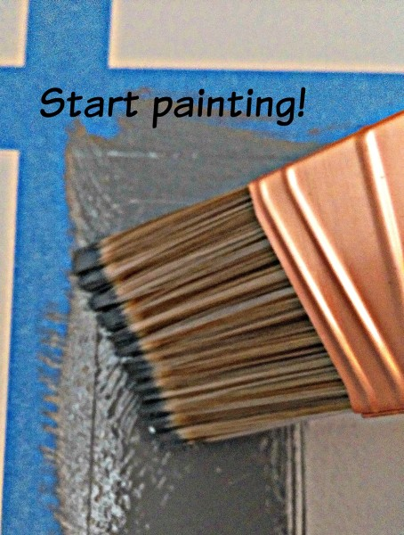 Colorhouse Chalkboard Paint Brush on Square Tape