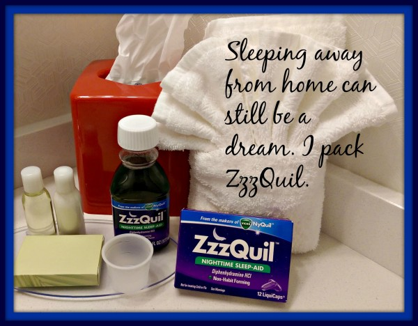 ZzzQuil Travel Sleeping Away From Home #sponsored