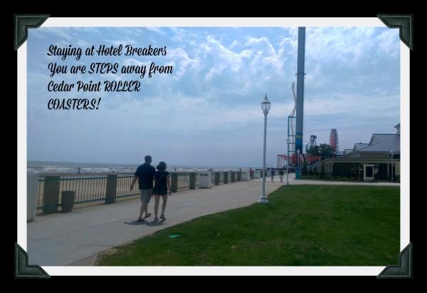Hotel Breakers Steps Away fro Cedar Point Roller Coasters