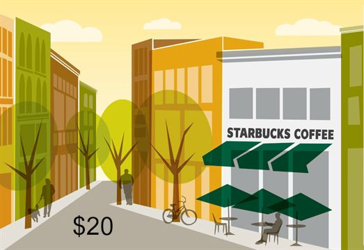 starbucks gift card $20
