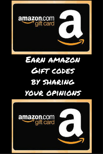 Earn amazon Gift codes by sharing your opinions