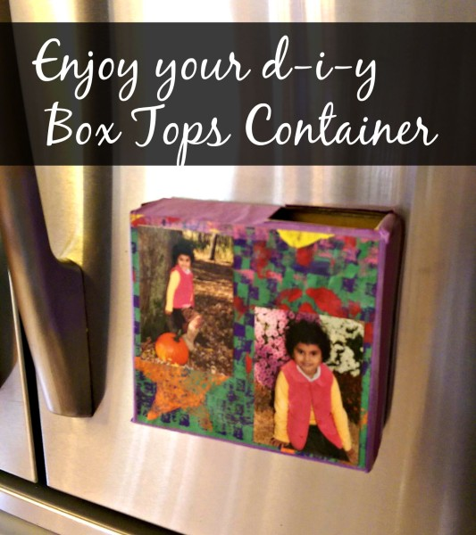 Enjoy your diy box tops container
