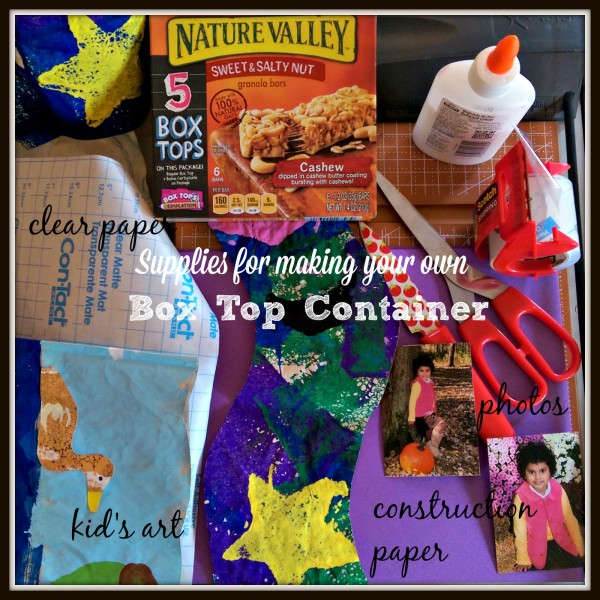 Supplies for Making Your Own Box Tops Container #TapInfluence #BTFE