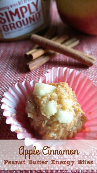 Apple Cinnamon Peanut Butter Energy Bites
