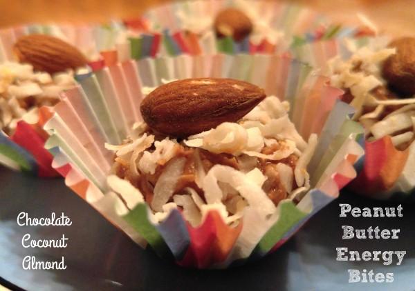 Chocolate Coconut Almond Peanut Butter Energy Bites