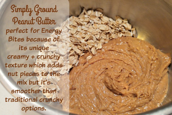 Simply Ground Peanut Butter for Energy Bites