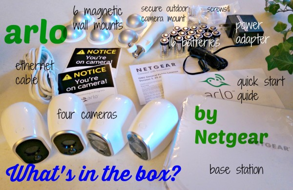 Arlo by Netgear Whats In The Box