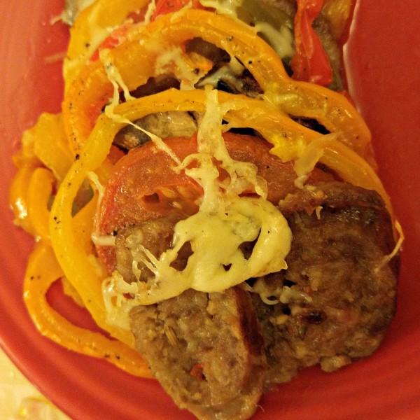 Holiday Italian Sausage Casserole Johnsonville Naturals Close Up