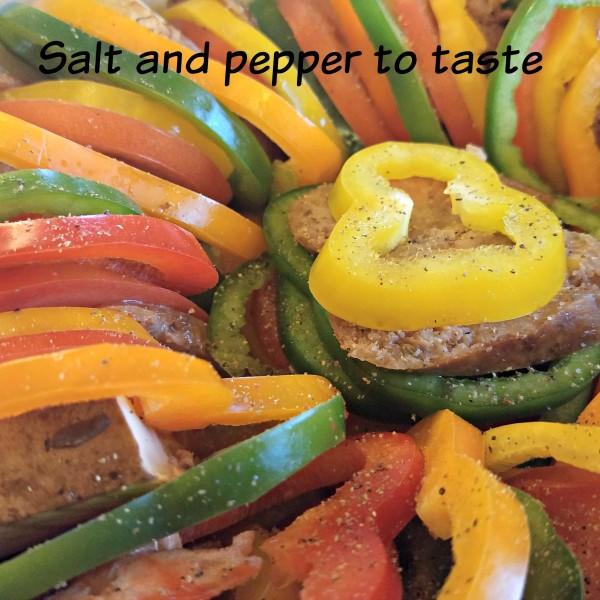 Holiday Italian Sausage Casserole Johnsonville Naturals Salt and Pepper