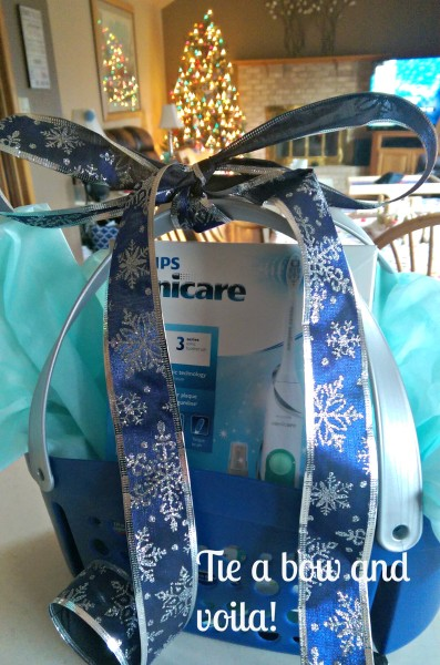 #GiftofPhilips Easy Sonicare Gift Basket Bow