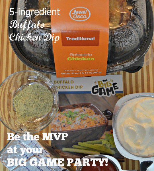 #GameDayMVP Jewel 5 Ingredients Buffalo Chicken Dip