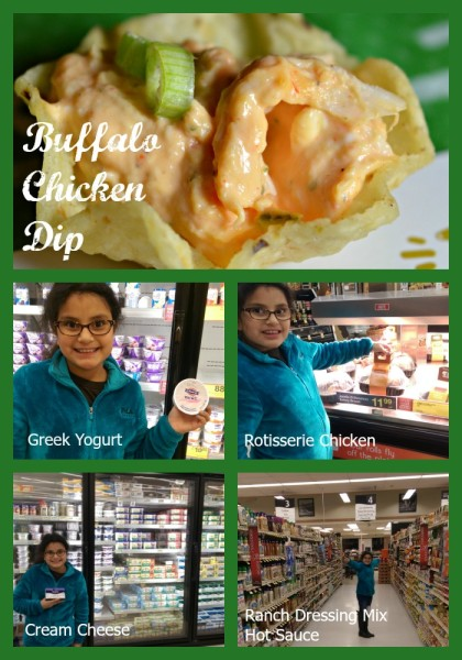 #GameDayMVP #Jewel Buffalo Chicken Dip In Store Collage of Ingredients
