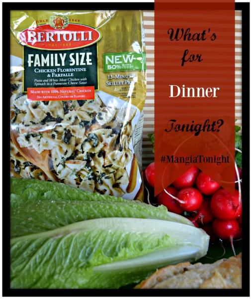 #MangiaTonight #cbias Bertolli Whats For Dinner