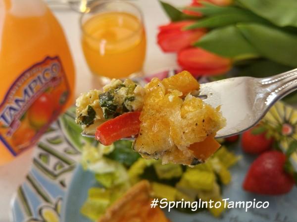 Tampico March #DrinkTampico #SpringIntoTampico Spring Quiche Bite 2
