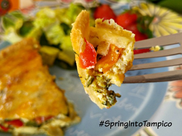 Tampico March #DrinkTampico #SpringIntoTampico Spring Quiche Bite