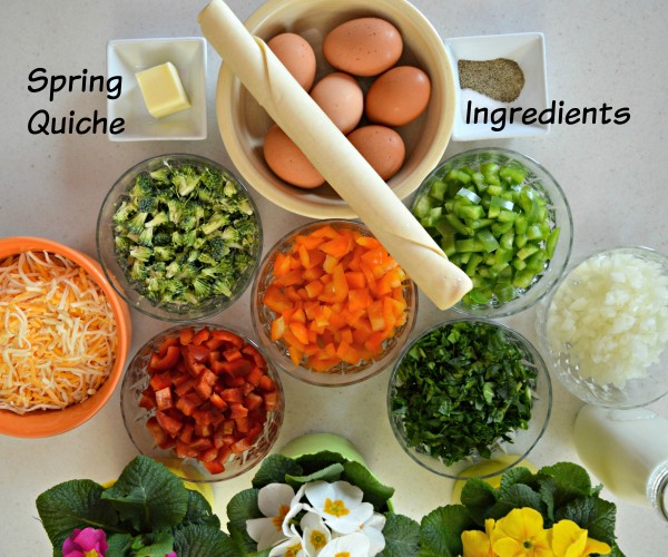 Tampico March #DrinkTampico #SpringIntoTampico Spring Quiche Ingredients