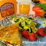 Tampico March #DrinkTampico #SpringIntoTampico Spring Quiche Plate