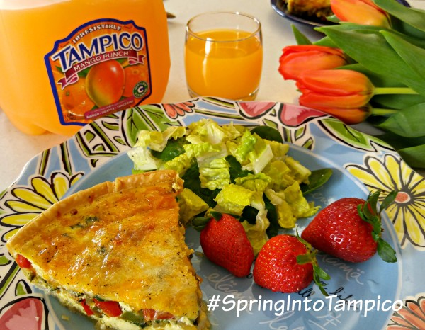 Tampico March #DrinkTampico #SpringIntoTampico Spring Quiche Plate