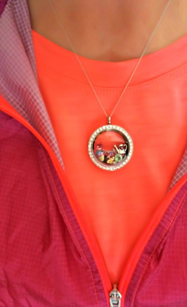 Origami Owl on Orange Shirt