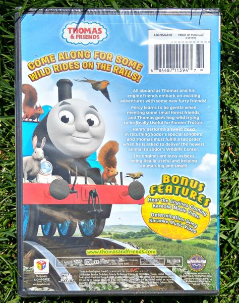 Thomas Animals Aboard DVD Bacl