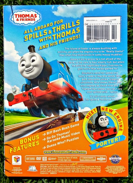 Thomas and Friends Spills and Thrills DVD Back