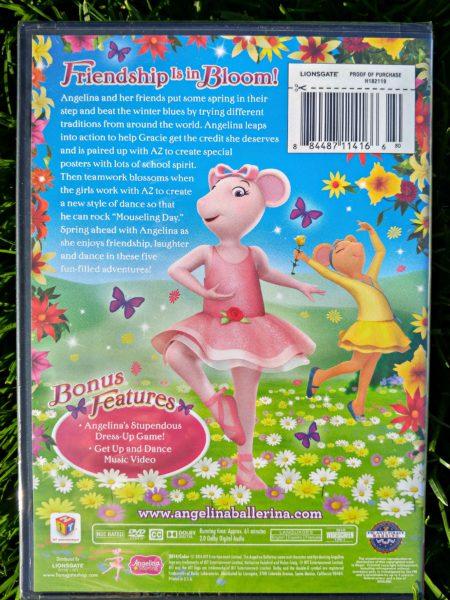 angelina ballerina spring fling dvd back