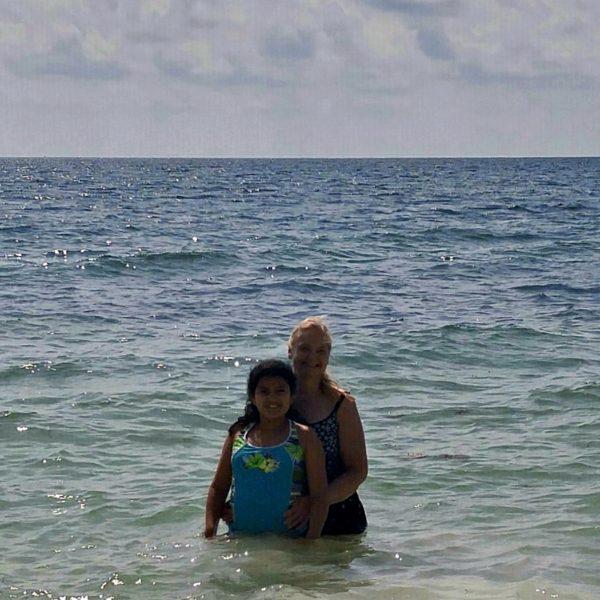 Beach - Mother Daughter in Ocean