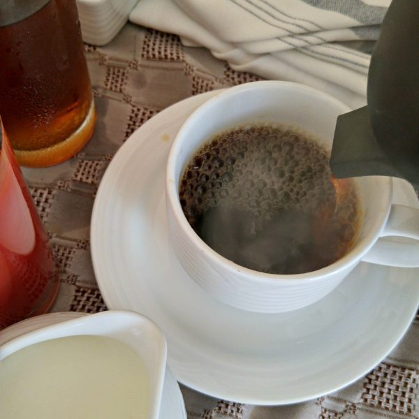Food - Room Service Hot Steaming Coffee