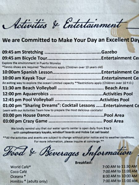 Hotel - Activities and Entertainment