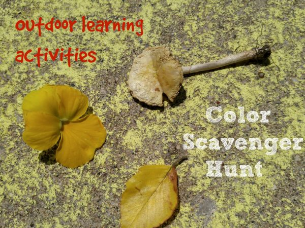 Outdoor Learning Activities Color Scavenger Hunt