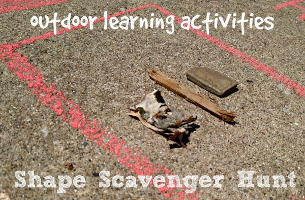 Outdoor Learning Activities Shape Scavenger Hunt