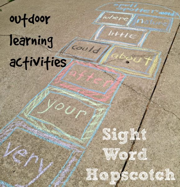 Outdoor Learning Activities Sight Word Hopscotch