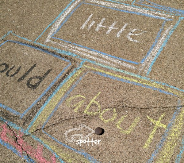 Outdoor Learning Activities Sight Word Hopscotch Spotter