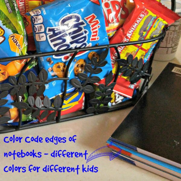 Color Coding Notebooks #PackSnacksTheyLove #cbias