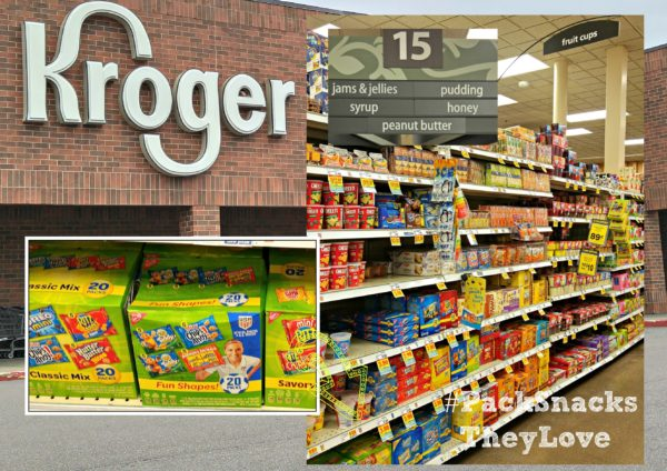 In Store Photo #PackSnacksTheyLove #cbias Kroger Mondelez