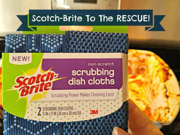 #ScrubbingPower Scotch-Brite Scrubbing Dish Cloths Rescue