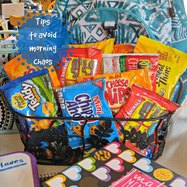 Tips to Avoid Morning Chaos Make Back to School Easy #PackSnacksTheyLove #cbias