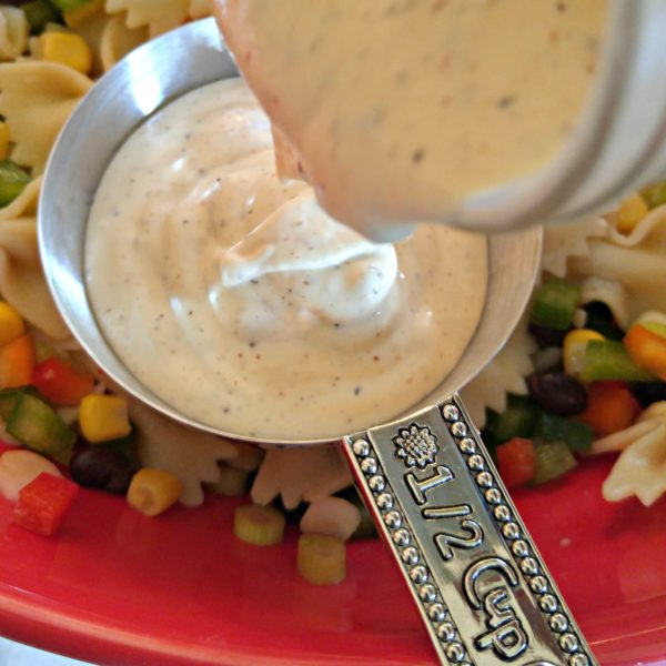 Add Dressing #SoldInCold Southwestern Pasta Salad with Litehouse Jalapeno Ranch Dressing