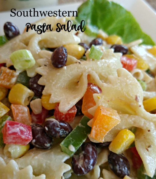 CloseUp #SoldInCold Southwestern Pasta Salad with Litehouse Jalapeno Ranch Dressing
