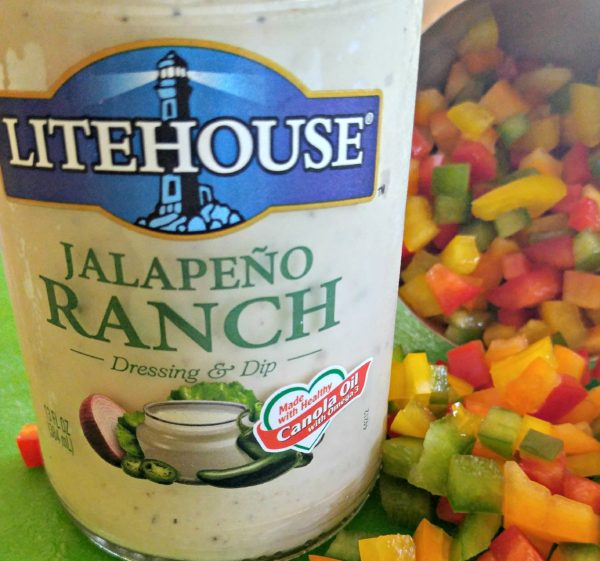 Dressing #SoldInCold Southwestern Pasta Salad with Litehouse Jalapeno Ranch Dressing