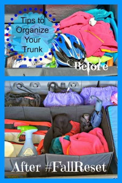 #FallReset Tips to Organize Trunk W Text