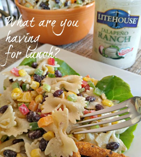 Lunch #SoldInCold Southwestern Pasta Salad with Litehouse Jalapeno Ranch Dressing