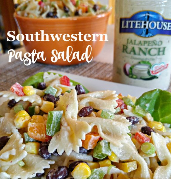 #SoldInCold Southwestern Pasta Salad with Litehouse Jalapeno Ranch Dressing