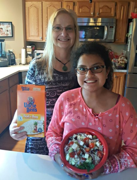 Mediterranean Rice Mother Daughter Cooking #BensBeginners #UncleBensPromo