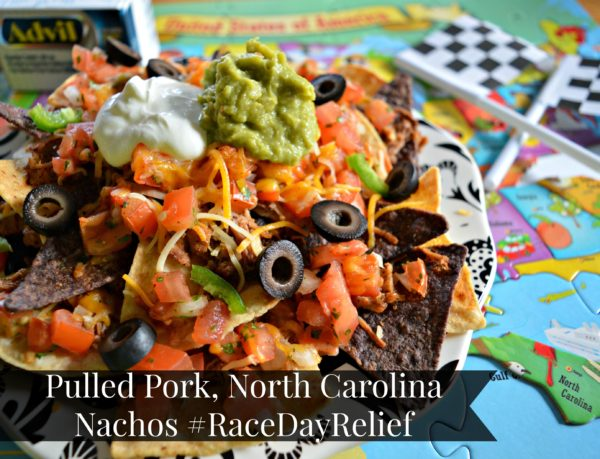 Pulled Pork North Carolina Nachos #RaceDayRelief #cbias